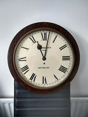 Vintage/ antique Brown (maker).  Moorgate  Station Clock