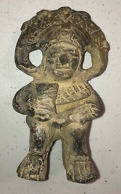Pre Columbian ? Figural Effigy Clay Pottery Collectors Estate