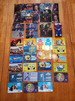 Collectible Gift Card LOT 42 Cards No Value UNIQUE Reflective Star Wars & More
