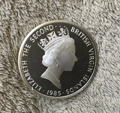 1985 Proof Silver British Virgin Islands $20 coin