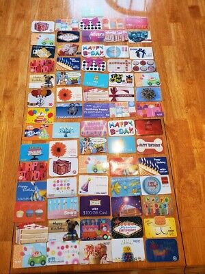 Collectible Gift Card LOT 70 Cards No Value Sears Target Happy Birthday Presents