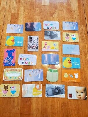 Collectible Gift Card LOT 22 Cards No Value New Baby Bottle Yellow Ducks Toes