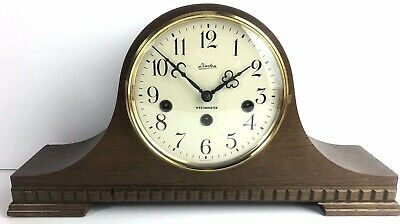 Vintage Franz Hermle Mantle Napoleon Hat Clock Westminster Chime missing one Bar
