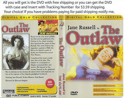 The Outlaw 1943 DVD Howard Hughes Jack Buetel Jane Russell {YOU CHOOSE SHIPPING}