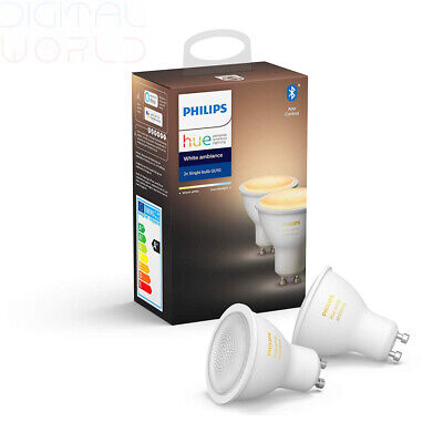 Philips Hue White Ambiance Smart Spotlight Twin Pack LED (GU10 Spot) 2