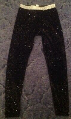 Young Girls - TU Black Sparkly Luxury Party Style Trousers - Size 8 Years