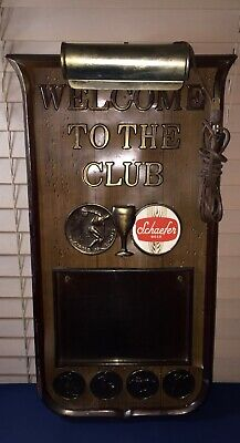 """1960s SCHAEFER BEER Lighted CIRCLE OF SPORTS Bar Advertising Sign 24""""T Works"""