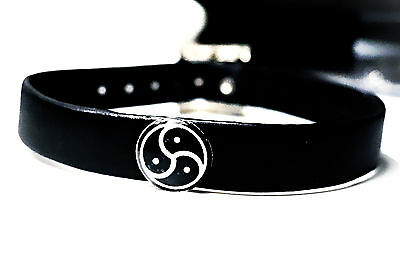 BDSM symbol submissive collar choker triskele triskelion necklace dominant slave