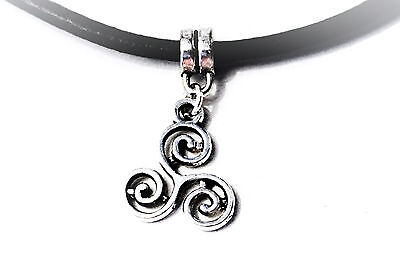 BDSM symbol submissive collar choker triskele triskelion necklace dominant gift