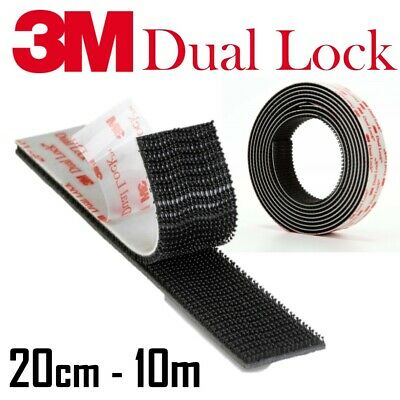 3M Dual Lock Tape Black 25mm Self Adhesive 5X STRONGER THAN HOOK AND LOOP SJ3550