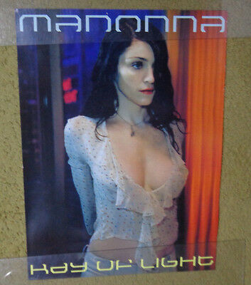 """DFGH               MADONNA -RAY of LIGHT promo poster-vintage  24 x 18 """"@ -1998"""