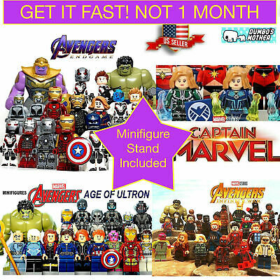 Marvel Avengers Minifigures Superheros Fits Lego End Game Captain Marvel Ironman
