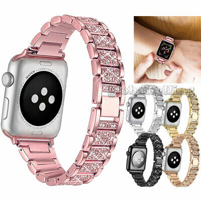 US Apple Watch Series 5 4 3 2 38/42MM Stainless Steel Bracelet iWatch Band Strap