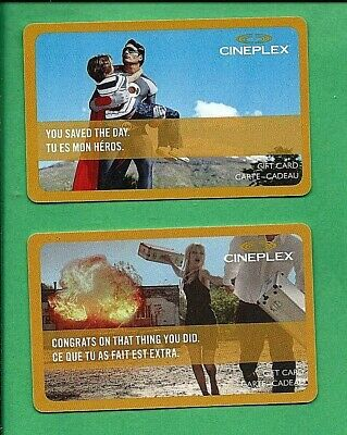 Cineplex  Canada  Gift Cards No  Value You Saved The Day