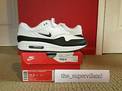 NIKE AIR MAX 1 LEATHER WHITE Sz 12 (537383 125) Brand New