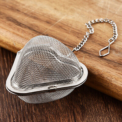 Reusable Accessories Heart-Shaped Mesh Diffuser Stainless Steel Tea Strainer