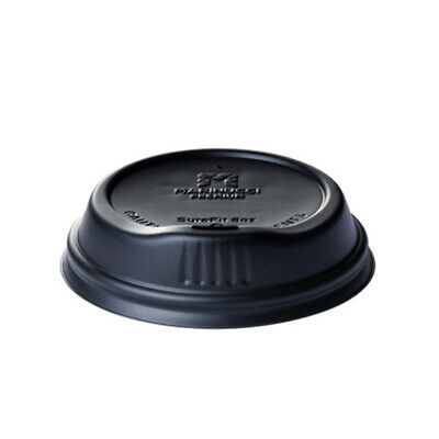 100x Coffee Travel Lid Black For 8oz Coffee Cups Disposable Take Away Plastic