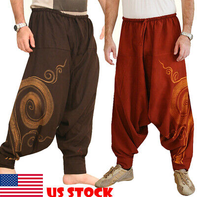Indian Pants Alibaba Harem Men/'s Trouser Baggy Plus size Big Tall Black L-42
