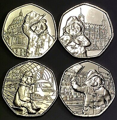 New Paddington 50p Fifty Pence Set Coins Rare Collectible Free P&P