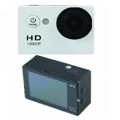 Action Camera HD 1080p 2Inch (Sj50) Set with accessories for Travel Sport(White)