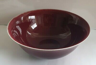 Chris Sanders Large Copper Red Glazed Bowl.  1996 .Australian Studio Pottery  .