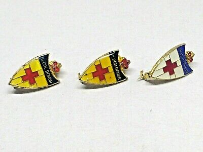 Mixed Lot Red Cross Badges Blood Donor
