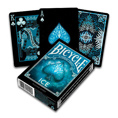 Bicycle ICE playing cards Standard Poker Glacial USPCC 1 Deck Black Blue USA