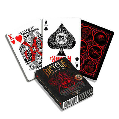 Bicycle HIDDEN playing cards Standard USPCC Poker Secrect societies 1 Deck USA