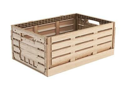 Folding Box in Wood Design 60x40x22 Produce Crate Vegetable