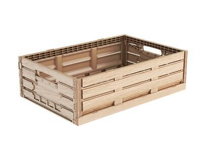 Folding Box in Wood Design 60x40x16 Produce Crate Vegetable