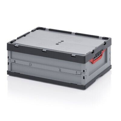 Professional Catering Box 60x40x22 with Lid Stackable Foldable Plastic