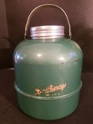 Antique Vintage Belknap Metal Tin Steel Water Cooler Jug
