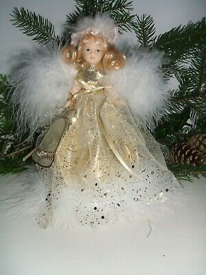 Christmas Fairy Doll.  ARIEL.  Gold.  Handcrafted