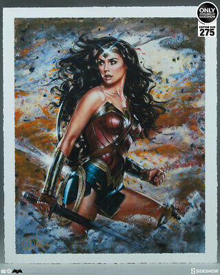Sideshow WONDER WOMAN Art Print by Olivia De Berardinis 156/275 Sold Out New