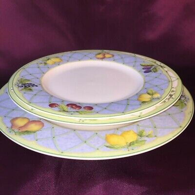 Mikasa Optima Fruit Rapture Y4001 Strong Fine China- Soup, Salad & Dinner Plates
