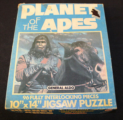 Vintage 1960'S Planet Of The Apes 10 X 14 Jigsaw Puzzle, Box General Aldo 96 Pc