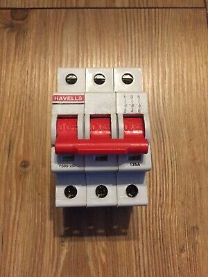 Havells 125 Amp Main Switch Disconnector PSBS1253 3 Phase Pole Isolator
