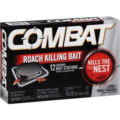 Combat Roach Killing Bait 6 Month Supply 12 Bait Stations Nest Killer
