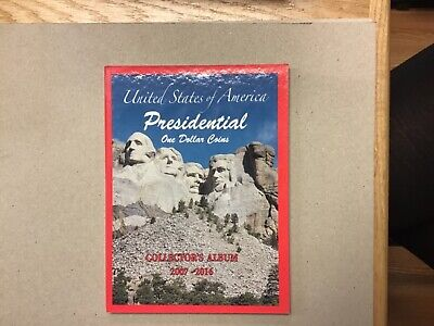 2007-2016 US Presidential One Dollar Coins Collector's Album