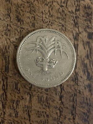 Great Britain, 1985  £1, One Pound Coin, Welsh Leek Rare Discontinued