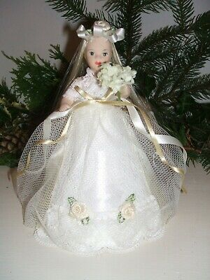 Christmas Fairy Doll.  White and cream.  MIA.  Handcrafted.