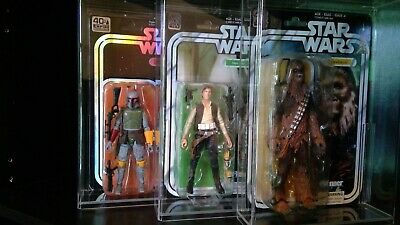 Star Wars Black Series 2019 SDCC Boba Fett 40th Han Solo Chewbacca Acrylic cases