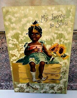 Vintage 1910 Black Americana Post Card. **My Love To You** (Made in Germany)
