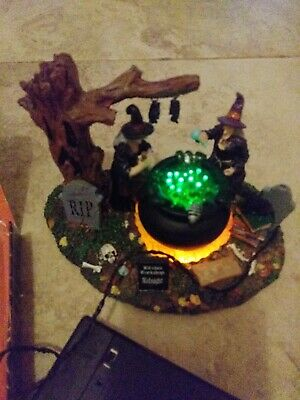Lemax Spooky Town, Witches Workshop, 2014, #44742, Lights up!