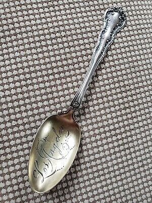 Antique 1899 Wallace IRVING Pattern STERLING Stag mark Teaspoon 'Los Angeles'
