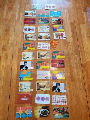 Collectible Gift Card LOT 33 Cards No Value Star Bucks Coffee Restaurant Food