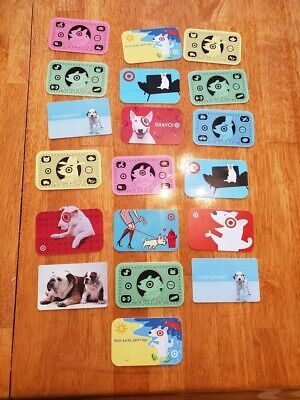 Collectible Gift Card LOT 19 Cards No Value Target Bullseye Dog Money