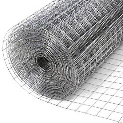 20M Roll Welded Wire Mesh Animal Fence Garden Pet Chicken Coop Aviary Fencing
