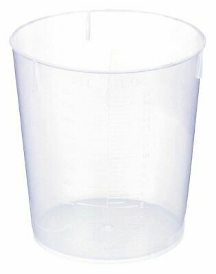 United Plastic Beaker, Low Form, 50 to 500mL, 0.5 to 17 oz., 25 PK   BST500  - 1