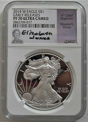 Early Releases SKU#177831 2019-W Silver American Eagle PF-70 NGC